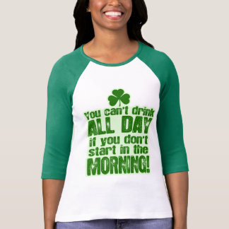 Funny Green Beer Drinking T-Shirt