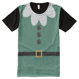 Funny Green Christmas Elf Costume T-Shirt