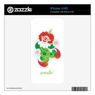 funny green clown skins for the iPhone 4S