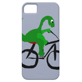 Funny Green Dinosaur Riding Bicycle iPhone SE/5/5s Case