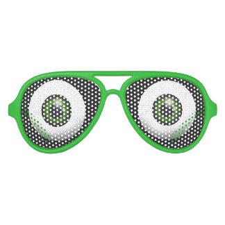 Funny Green Eyes Aviator Sunglasses