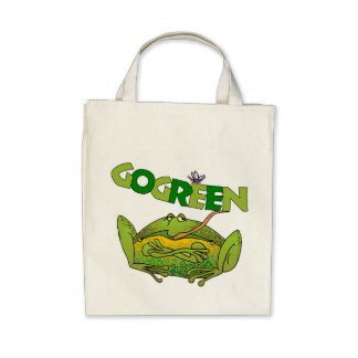 Funny Green Frog Ecology Gift Bags