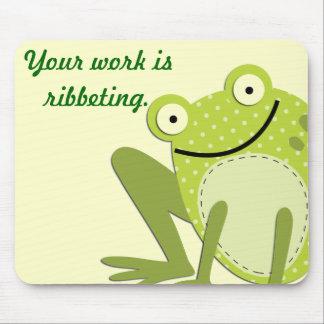 Funny Green Frog Mousepad