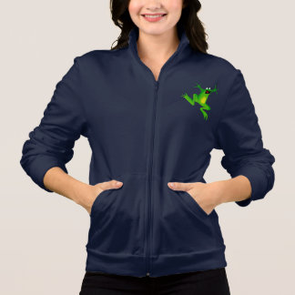 Funny Green Frog Womens Jacket
