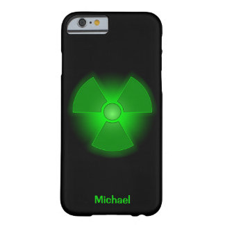 Funny green glowing radioactivity symbol barely there iPhone 6 case