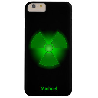 Funny green glowing radioactivity symbol barely there iPhone 6 plus case