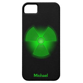 Funny green glowing radioactivity symbol iPhone SE/5/5s case