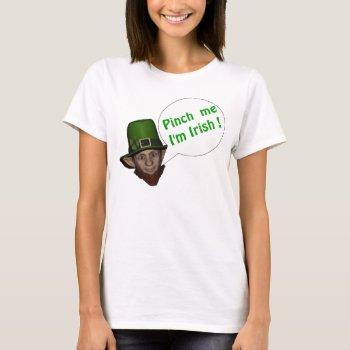 Funny Green Leprechaun T-shirt by Paddy_O_Doors at Zazzle