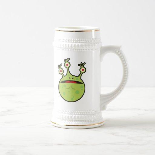 funny green monster mug