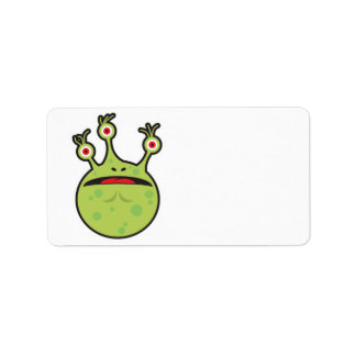 funny green monster personalized address label