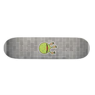 funny green monster skate board deck