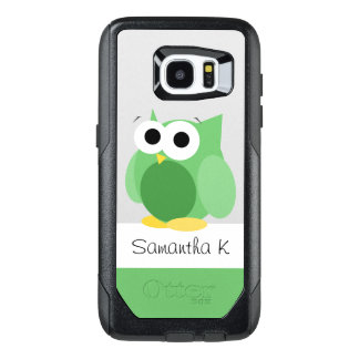 Funny Green Owl Personalize Samsung Galaxy S7 Edge OtterBox Samsung Galaxy S7 Edge Case