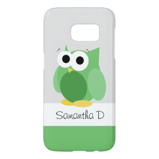 Funny Green Owl - Personalized Samsung Galaxy S7
