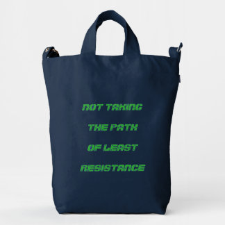 "Funny Green ""Path of Least Resistance"" Duck Bag"