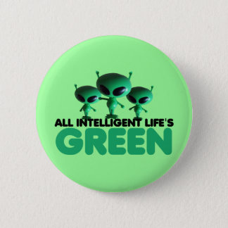 Funny green pinback button