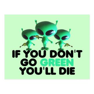 Funny green postcard
