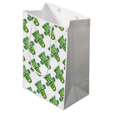 Halloween Themed Funny Green Space Alien Party Items Gift Bag