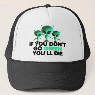 Funny green trucker hat