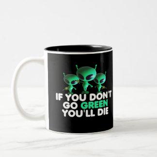 Funny green Two-Tone coffee mug
