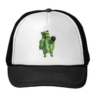Funny Green Watermelons Bear Trucker Hat