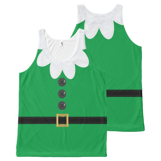 Funny Christmas Tank Tops.Funny Green Xl Christmas Elf In July Tank Top