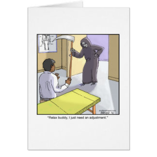Grim cartoon cards greeting photo cards zazzle funny greeting card about grim reaper bookmarktalkfo Image collections