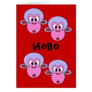 funny greeting cardsmonkeys card