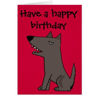 Funny Grey Watch Dog Card
