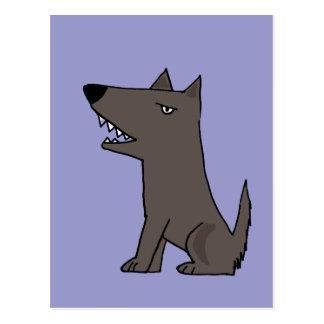 Funny Grey Watch Dog Postcard