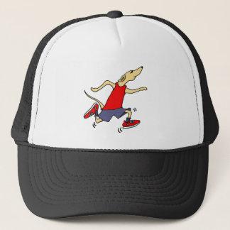 Funny Greyhound Dog Jogger Trucker Hat
