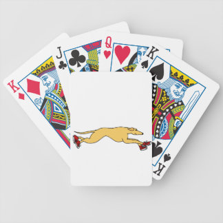 Funny Greyhound Dog Running in Red Sneakers Art Bicycle Playing Cards