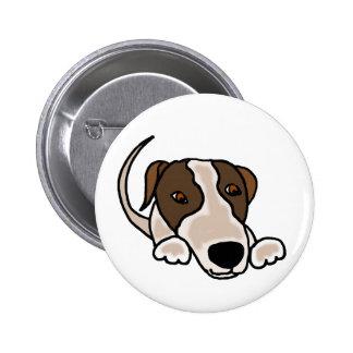 Funny Greyhound Puppy Dog Cartoon Pin