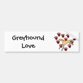 Funny Greyhound Puppy Love Bumper Sticker