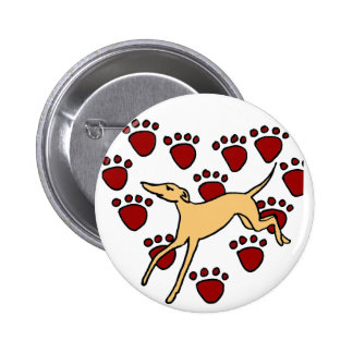 Funny Greyhound Puppy Love Buttons