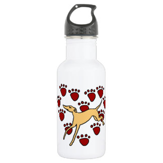 Funny Greyhound Puppy Love Stainless Steel Water Bottle