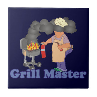 Funny Grill Master Barbecue Ceramic Tile