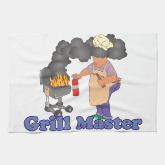 Funny Grill Master Barbecue Hand Towel