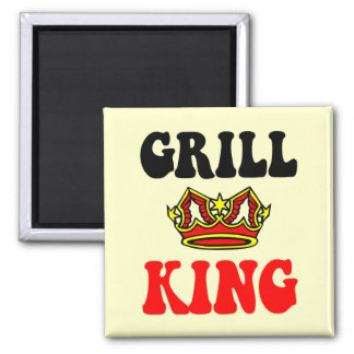 Funny grilling 2 inch square magnet