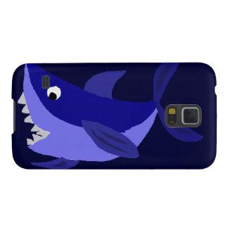 Funny Grinning Shark Art Galaxy S5 Case