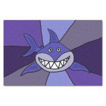 Funny Grinning Shark Tissue paper