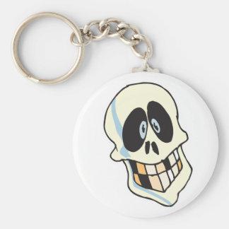 funny grinning skeleton skull keychain