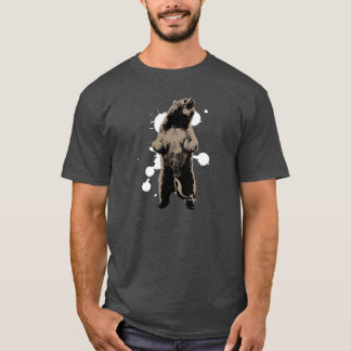 Funny Grizzly Bear & Angry Salmon T-Shirt