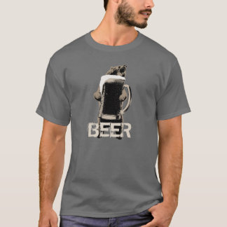 Funny Grizzly Bear & Beer T-Shirt