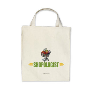 Funny Grocery Shopping Canvas Bags