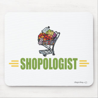 Funny Grocery Shopping Mouse Pad