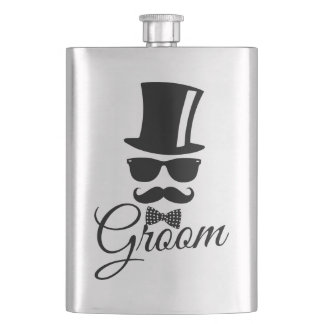 Funny groom flask