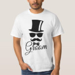 """Funny groom T-Shirt<br><div class=""""desc"""">Funny and classy design for mens mainly for the classic and hipster men's.</div>"""