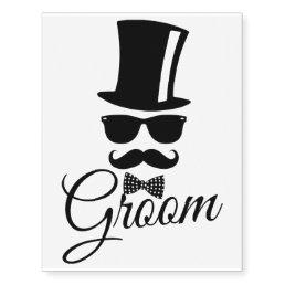 Funny groom temporary tattoos