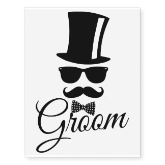 Funny groom temporary tattoos