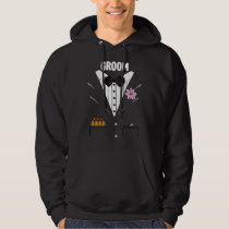 Funny Groom Tuxedo With Cigars and Ring For Bride Hoodie